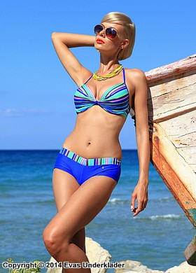 Randigt bikini-set